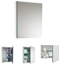 Fresca Small Bathroom Medicine Cabinet w/Mirrors - Modern ...