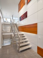 Stairs and Feature Wall   Modern   Staircase   edmonton ...