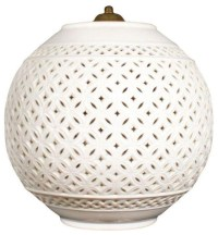 Regency White Ceramic Pendant Lamp - Contemporary ...