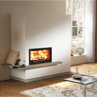 The gallery for --> Modern Wood Burning Fireplace Design
