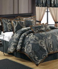 Blue Tivoli Jacquard Comforter Set - Contemporary ...