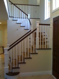 Custom Recessed Panel Columns in a Craftsman Staircase ...
