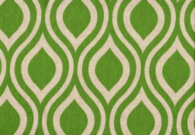 Green Geometric Curtains