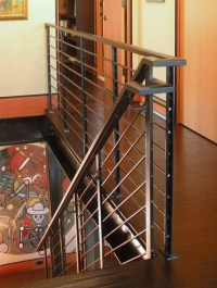 Stair rail detail. - Industrial - Staircase - seattle - by ...