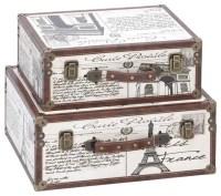 Paris Decorative Suitcase Trunks - Set of 2 - Traditional ...