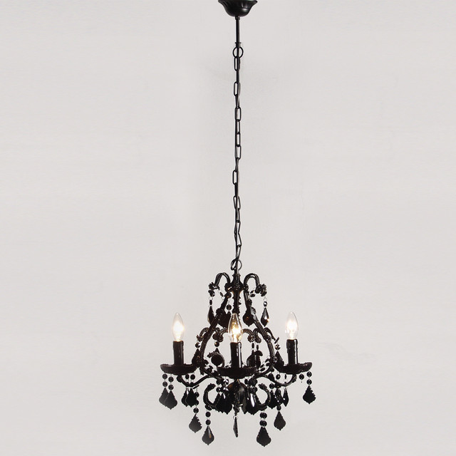 Mini Sexy Rexy Black Chandelier  Contemporary  Chandeliers  by The French Bedroom Company