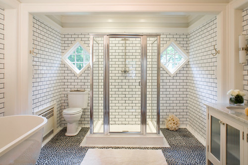 Which Color Of Grey Grout To Pair With White Octogan Tile