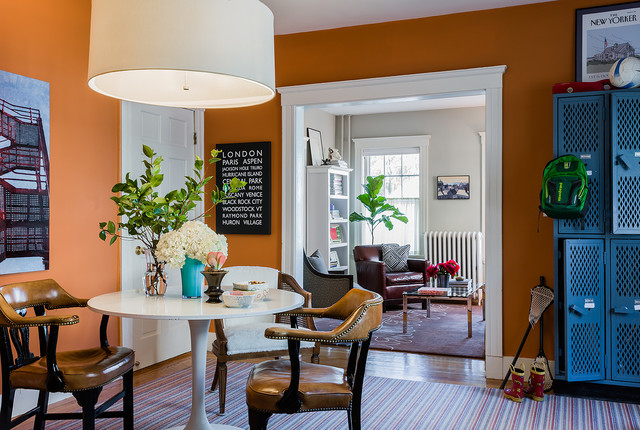 eclectic dining room by Terrat Elms Interior Design