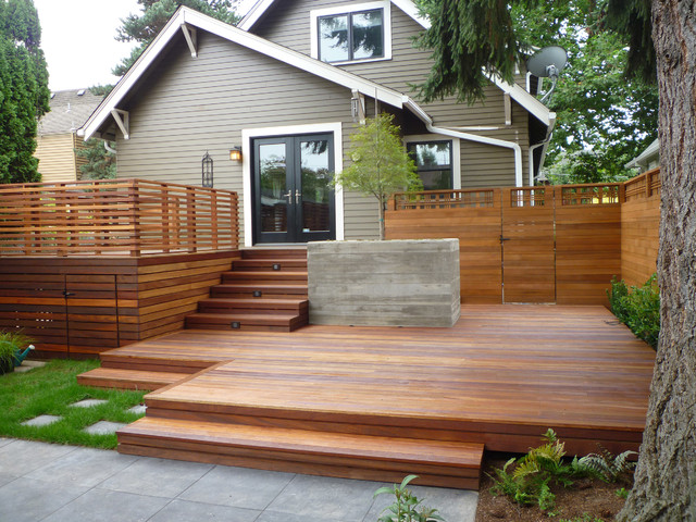 Nw Backyard Blues # 1  Traditional  Deck  Portland By