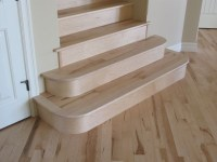 Maple Rounded Stairs - Traditional - Staircase - other ...