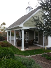 Pool House and Garage - Traditional - Patio - new york ...