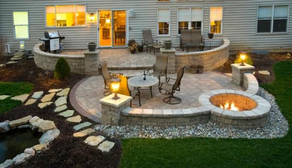 paver patio with fire pit design ideas Paver Patio - Contemporary - Exterior - cincinnati - by