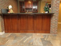 Basement Remodel with New Bar and Ceramic Tile Floor ...