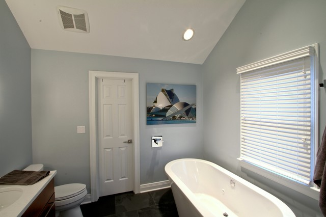 Freestanding Tub Master Bath Wall Mount Tub Filler  Contemporary  Bathroom  indianapolis