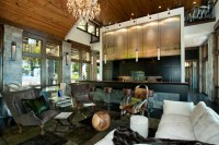 Modern Mountain Home - Rustic - Living Room - charlotte ...
