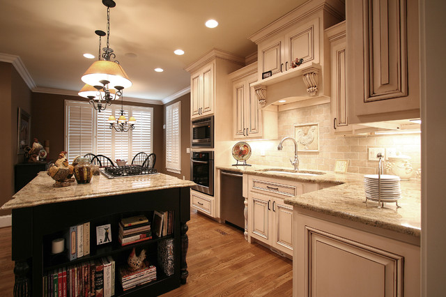 kitchen cabinets charlotte nc average cost of small remodel french country - traditional by ...