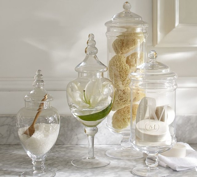 Classic Glass Apothecary Jar  Traditional  Bathroom Canisters  by Pottery Barn