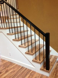 Rustic Hickory stairs - Contemporary - Staircase ...