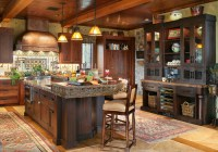 Dream Mountain Home Kitchen Pictures From Interior ...