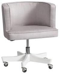 Scoop Swivel Desk Chair, Light Gray - Contemporary ...
