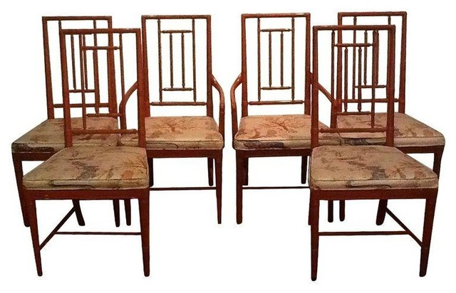 Pre-owned Vintage Chinoiserie Dining Chairs
