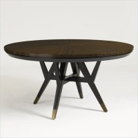 Aquarius Spectrum Round Dining Table in Walnut Finish ...