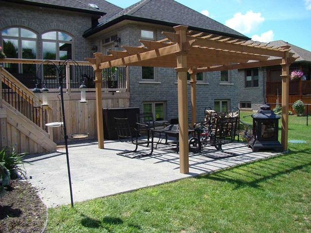 photos decorative stamped concrete patio with pergola traditional patio
