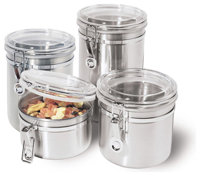Stainless Steel Kitchen Storage Container Canisters Jars