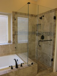 Shower and tub master bathroom remodel - Traditional ...