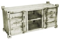 Appalachia Distressed Sideboard - White - Industrial ...
