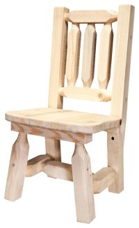 Wooden Child's Chair - Rustic - Kids Chairs - by ShopLadder