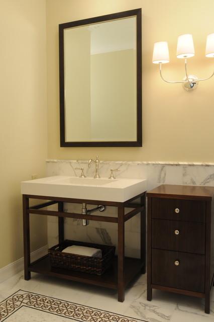 guest bathroom remodel  Rancho Santa Fe CA  Eclectic  Bathroom  san diego  by studio