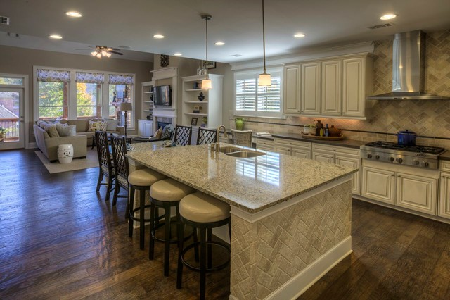 hanging lights for kitchen island metal tables ashton woods atlanta interiors - traditional ...