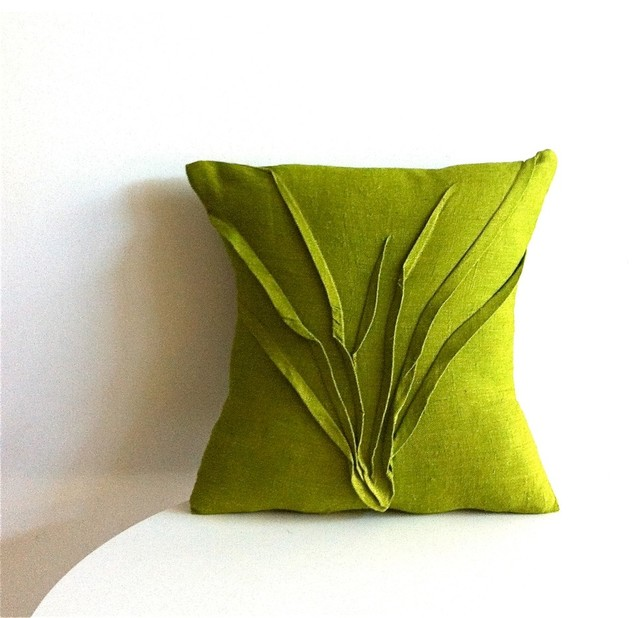 Grass Texture Pillow Moss Green  Modern  Decorative