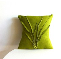 Grass Texture Pillow, Moss Green