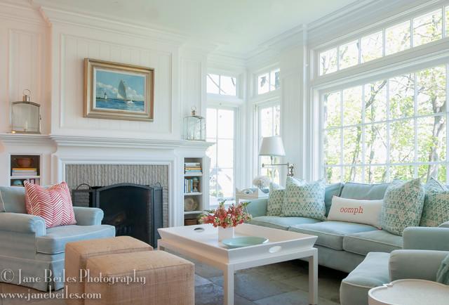 Rowayton Beach House  Traditional  Family Room  new york  by Jane Beiles Photography