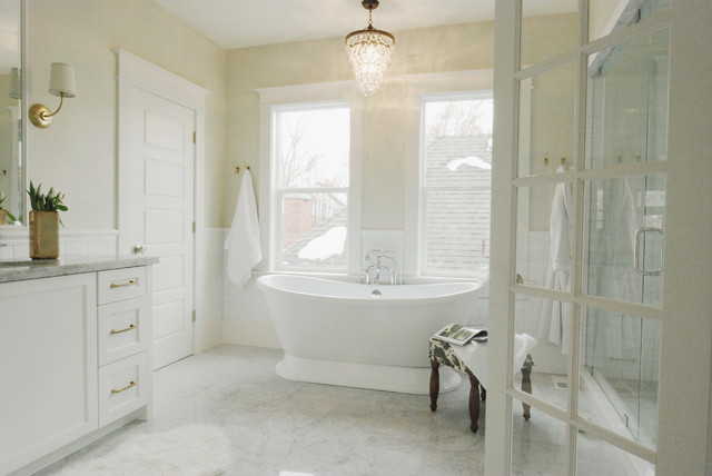 small lamps for kitchen counters storage space in bright master bath - traditional bathroom salt lake ...