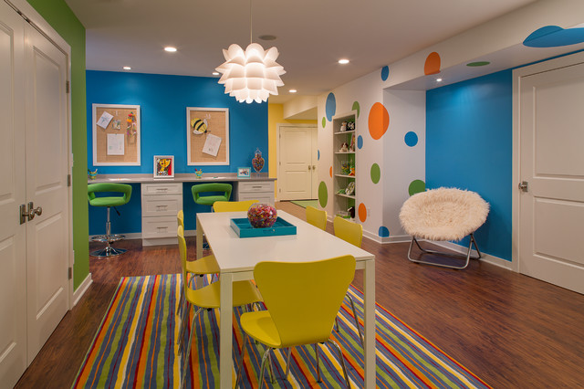 Basement Transformation  Contemporary  Kids  New York