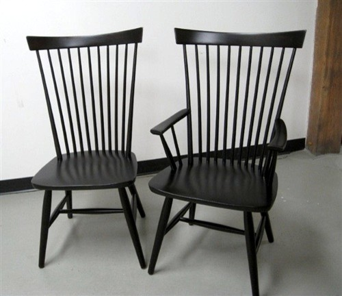 Black Federal Style Dining Chair  Farmhouse  Dining Chairs  boston  by ECustomFinishes