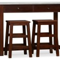 Balboa counter height table and stools espresso contemporary bar