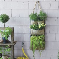 Hanging Bag Planter - Contemporary - Outdoor Pots And ...