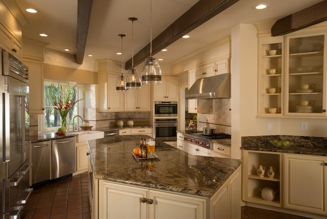 Saratoga Historical Adobe Kitchen Remodel Traditional