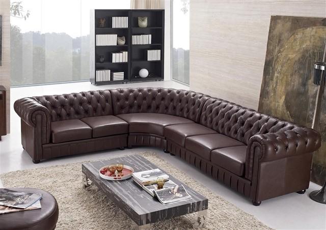 baxton studio dobson leather modern sectional sofa big leder grau aberdeen tufted - ...