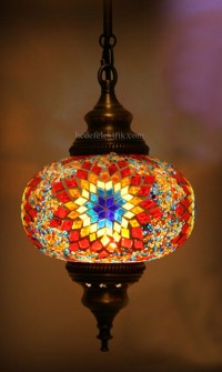 Turkish Style Mosaic Pendant Lamp 17 cm - Mediterranean ...