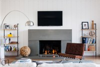 Barely-there modern glass fireplace screen - Modern ...