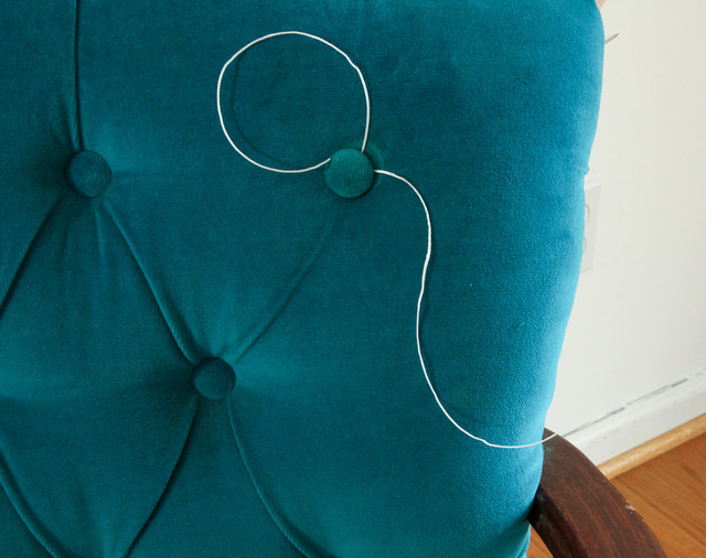 How to Repair or Add Buttons on Tufted Furniture  other