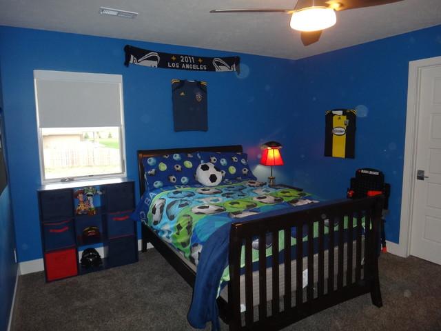 Boys Blue Modern Soccer Bedroom  Modern  Bedroom  omaha
