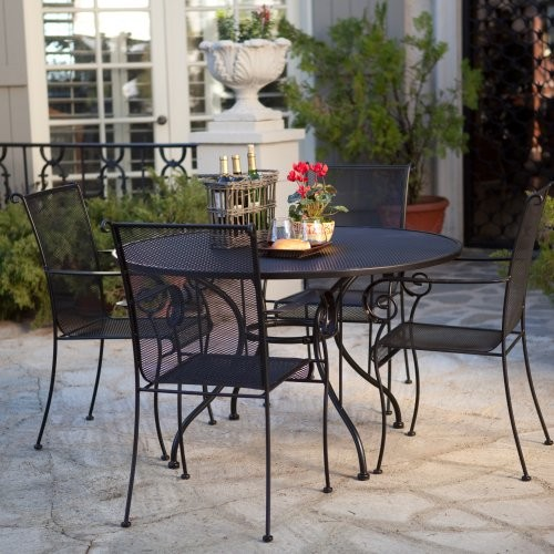 wrought iron patio furniture dining sets Paxton Wrought Iron Dining Set - Seats 4 - Contemporary - Patio Furniture And Outdoor Furniture