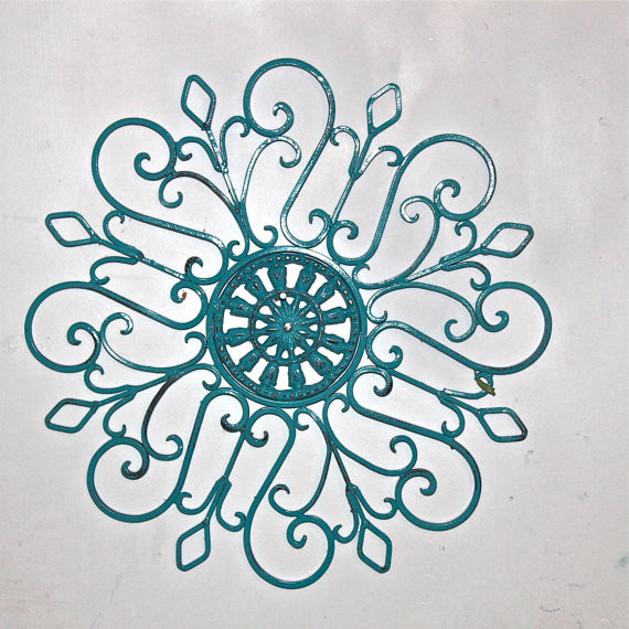 59 Teal And Brown Wall Art Blue Daisy Home Decor Matted Picture Ebay Latakentucky Com