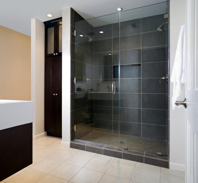 Modern Master Bath  Shower  Contemporary  Bathroom